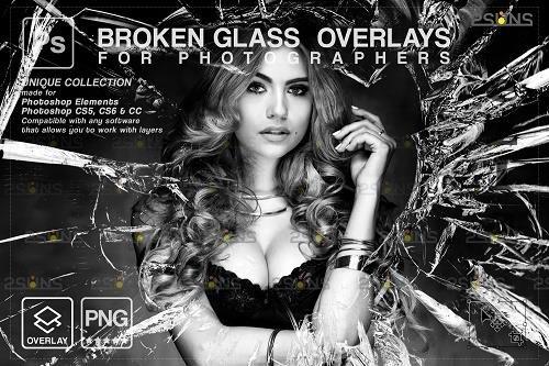 Broken Glass PHSP Overlay & Halloween PHSP overlay V2 - 1447864