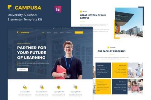 ThemeForest - Campusa v1.0.0 - University & School Elementor Template Kit - 33728094