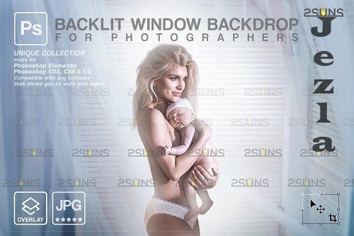 Curtain backdrop & Maternity digital photography backdrop V2 - 1447849