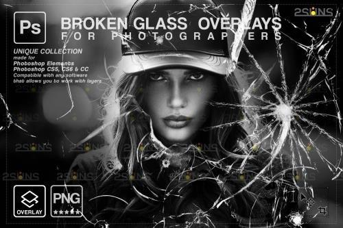 Broken Glass PHSP Overlay & Halloween PHSP overlay V6 - 1447866