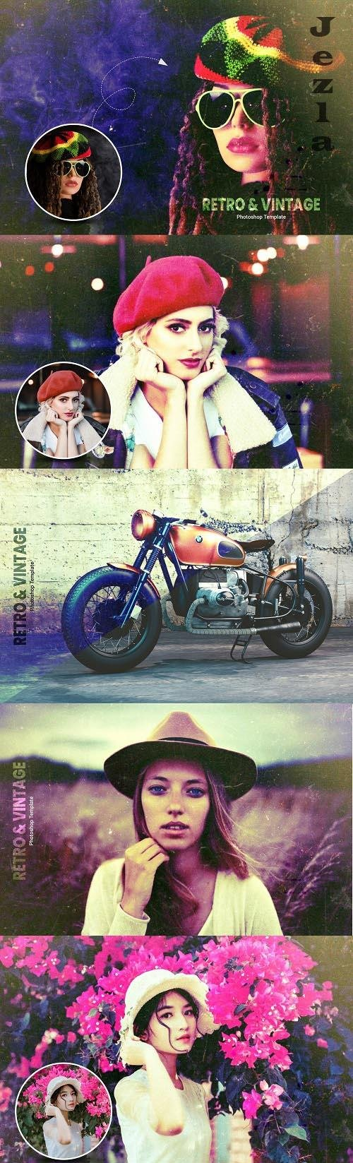 Retro and Vintage Photo Effect - 6369450