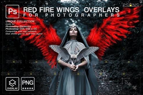 Red Fire wings overlay & Halloween overlay, PHSP overlay - 1447883