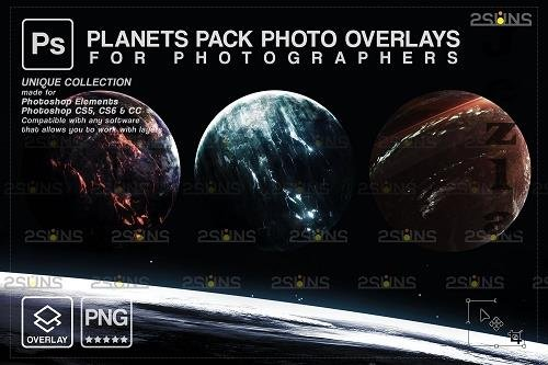 Planets PHSP overlay png Space clipart, Night sky V2 - 1447904