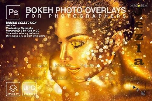 Gold glitter overlay, Sparkler overlay, Dust PHSP layer, Bokeh light V5 - 1447927