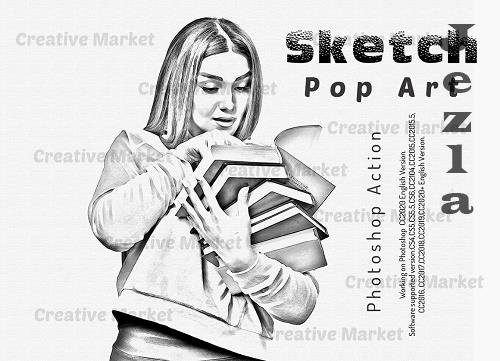Sketch Pop Art PS Action - 6497428