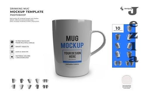 Coffee Mug 3D Mockup Template Bundle - 1586177