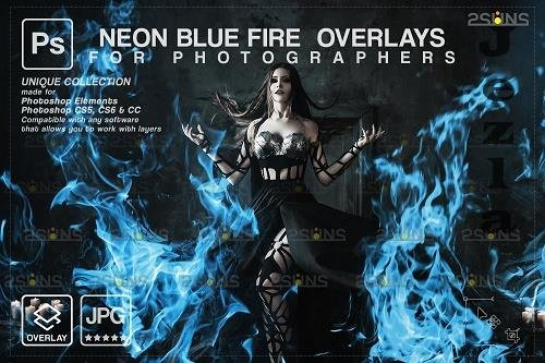 Fire background, PHSP overlay, Burn overlays, Neon Blue Fire -  1447876
