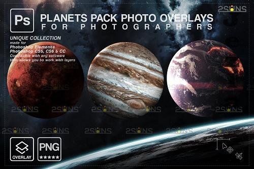 Planets Photoshop overlay png Space clipart, Night sky V3 - 1447906