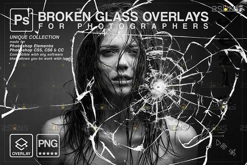 Broken Glass Photoshop Overlay & Halloween Photoshop overlay - 1447941