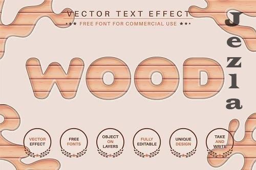 Light wood - Editable Text Effect - 6502348