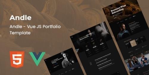 ThemeForest - Andle v1.0 - Vue Portfolio Template - 33730562