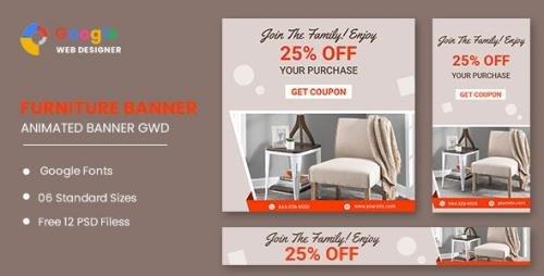 CodeCanyon - Furniture Google Adwords HTML5 Banner Ads GWD v1.0 - 33791861