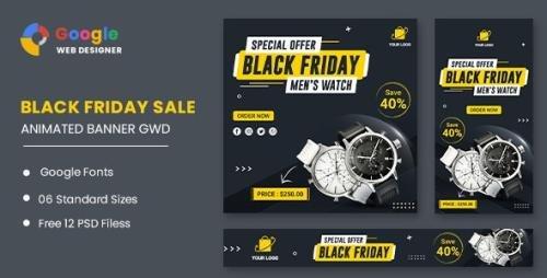 CodeCanyon - Black Friday Sale HTML5 Banner Ads GWD v1.0 - 33791786