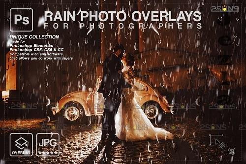 Rain overlay & PHSP overlay Realistic falling rain - 1584028