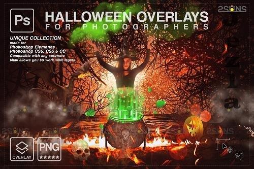 58 Halloween overlay & Halloween digital backdrop - 1584053