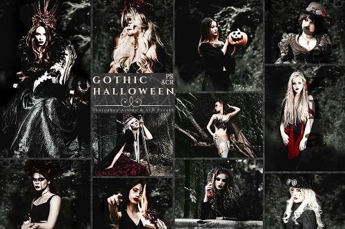 10 Gothic Halloween Photoshop Actions And ACR Presets - 1576406