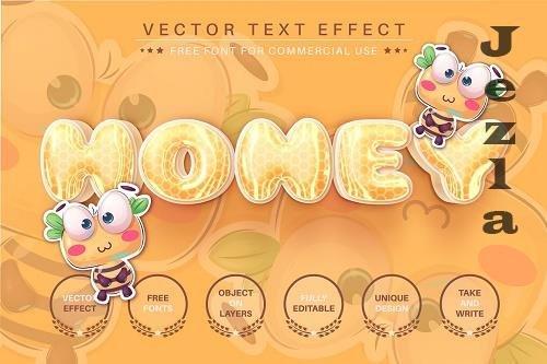 3D Honey - Editable Text Effect - 6507200
