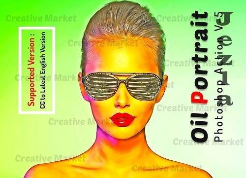 Oil Portrait Photoshop Action V-5 - 6508359