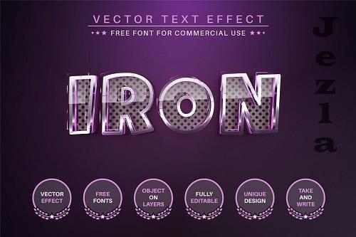 Stylish Metal - Editable Text Effect - 6510611