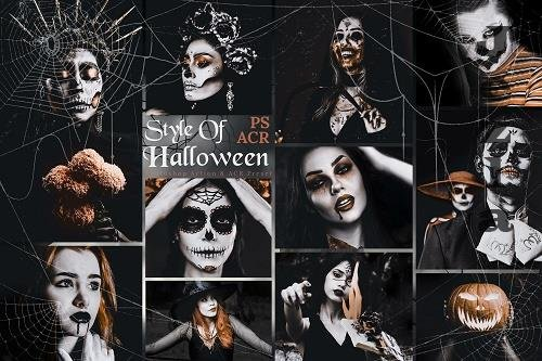 10 Style Of Halloween PHSP Actions And ACR Presets - 1588760