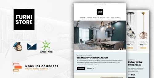 ThemeForest - Furnistore v1.0 - E-Commerce Responsive Furniture and Interior design Email with Online Builder - 33744161