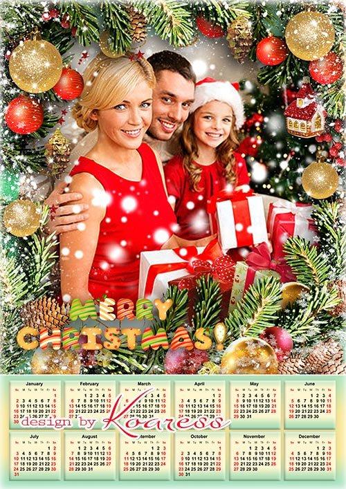 Новогодний, рождественский календарь на 2022 год - Merry Christmas calendar 2022