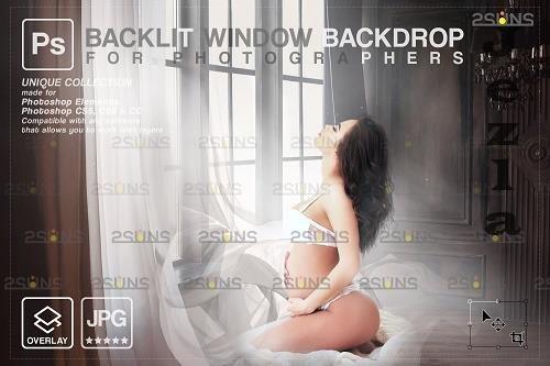 Curtain backdrop & Maternity digital photography backdrop V4 - 1447853