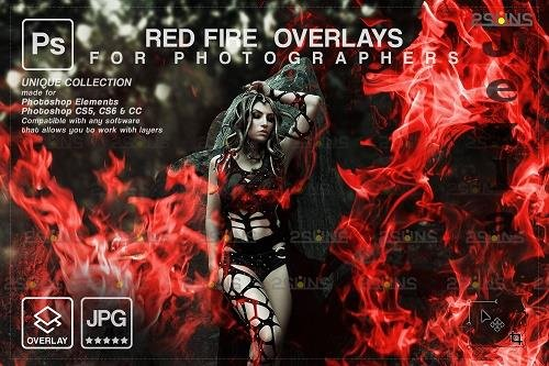 Red Fire background, PHSP overlay, Burn overlays, Neon Fire - 1447879