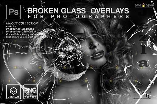 Broken Glass Photoshop Overlay & Halloween Photoshop overlay V3 - 1447943