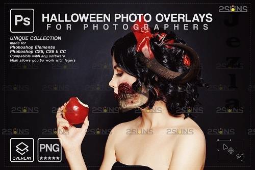 Halloween clipart Halloween overlay, PHSP overlay V2 - 1583907