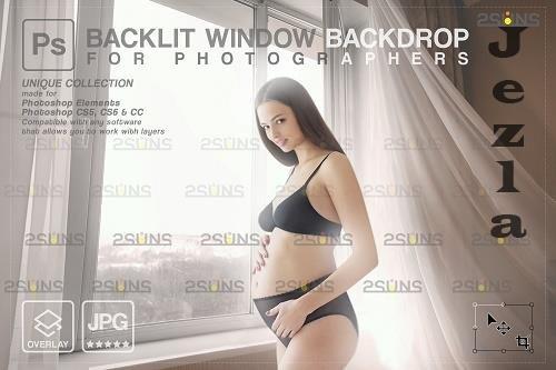 Curtain backdrop & Maternity digital photography backdrop V6 - 1447855