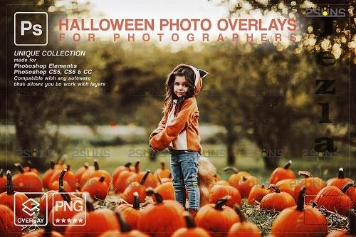 Halloween clipart Halloween overlay, PHSP overlay V3 - 1583909