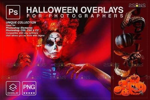Halloween clipart Halloween overlay, PHSP overlay V12 - 1584016