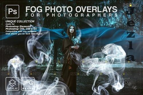 Smoke backgrounds, Fog overlays, PHSP overlay V8 - 1447934