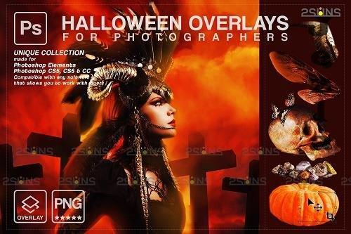 Halloween clipart Halloween overlay, PHSP overlay V13 - 1584019