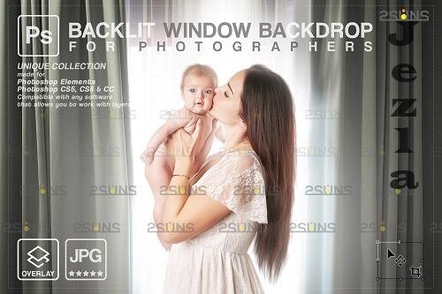 Curtain backdrop & Maternity digital photography backdrop V8 - 1447858