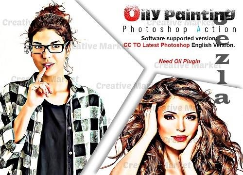 Oily Painting PHSP Action - 6520379