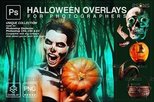 Halloween clipart Halloween overlay, PHSP overlay V14 - 1584023