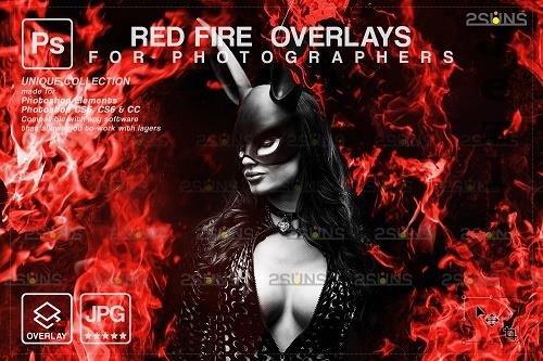 Fire background, PHSP overlay, Burn overlays, Neon Red Fire V4 - 1447968