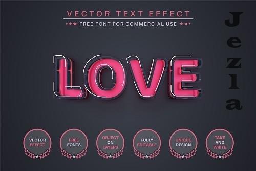Love - Editable Text Effect - 6515596