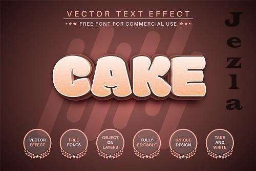 Cake - Editable Text Effect - 6515899