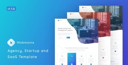 ThemeForest - Webmania v1.1.0 - Agency, Startup and SaaS Template - 22802780
