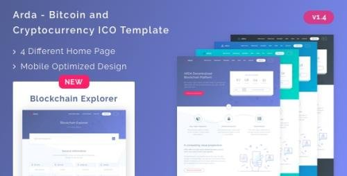ThemeForest - Arda v1.4 - Bitcoin and Cryptocurrency ICO HTML Template - 21750192