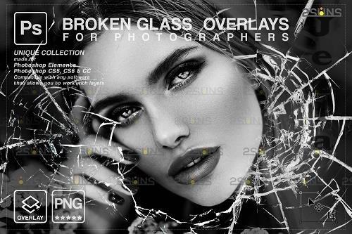 Broken Glass Photoshop Overlay & Halloween Photoshop overlay V7 - 1447951