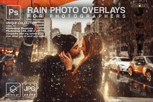 Rain overlay & PHSP overlay Realistic falling rain V2 - 1584033