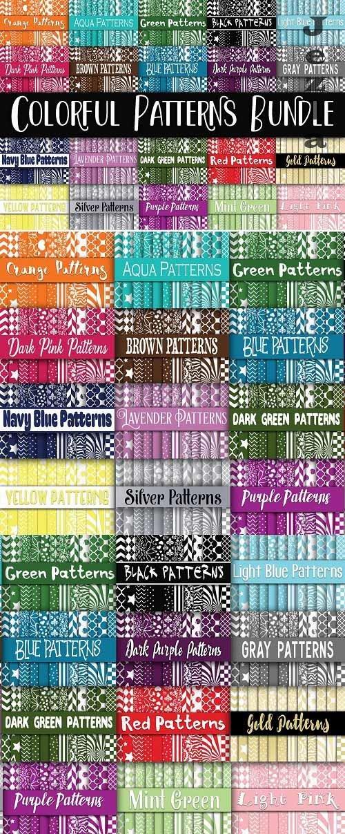 Colorful Patterns Digital Paper Bundle - Includes 480 papers - 88319