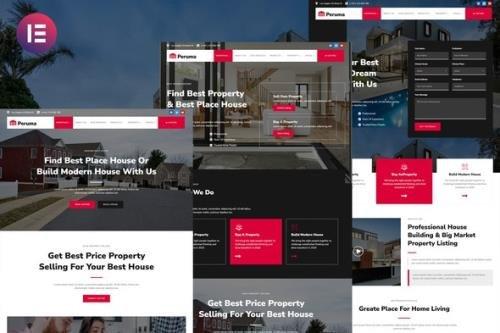 ThemeForest - Peruma v1.0.0 - Real Estate & Property Listing Elementor Template Kit - 33927890