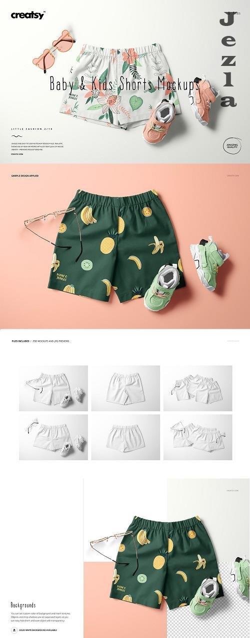 Baby & Kids Shorts Mockup Set (18/LFv.2) - 6503528