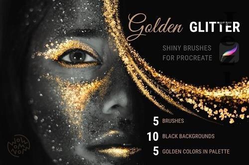 Golden Glitter | Procreate Brushes - 6508870