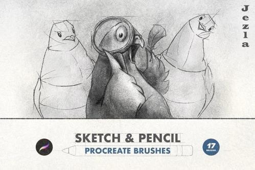 Sketch & Pencil Procreate Brushes - 6505262